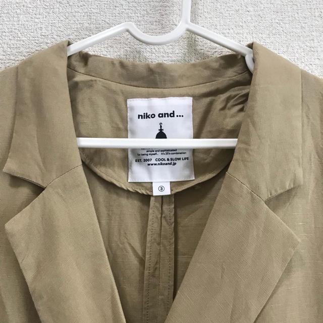 niko and...(ニコアンド)のニコアンド リネン ジャケット レディースのジャケット/アウター(テーラードジャケット)の商品写真