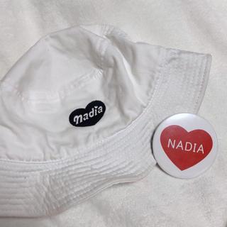 ナディア(NADIA)のナディア バケットハット 缶バッチ(ハット)