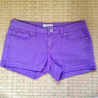 エアロポステール(AEROPOSTALE)のデニム 紫 ショートパンツ(ショートパンツ)