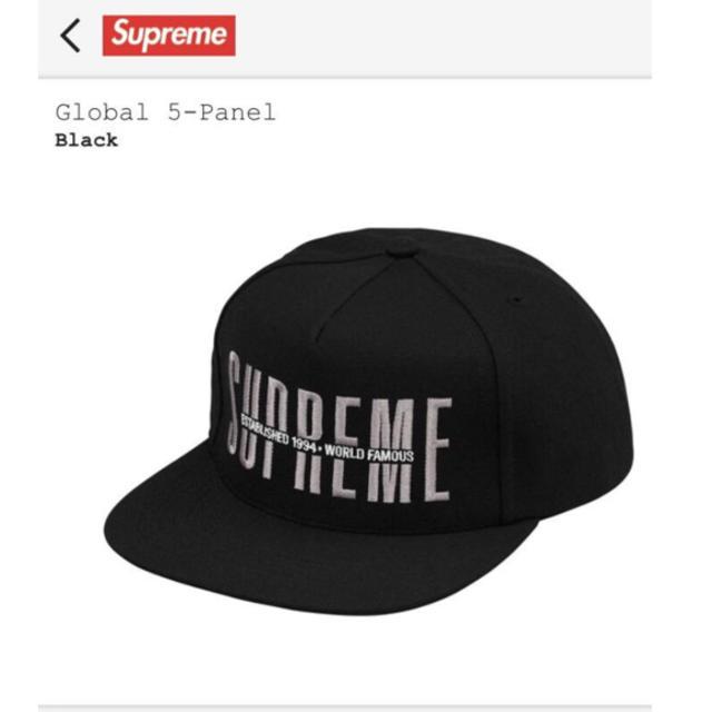 d5edb04a Supreme - 18aw Supreme Global 5-Panel cap blackの通販 by ten3shop ...