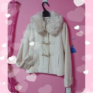 シマムラ(しまむら)の新品未使用♡ ファー襟取り外し可能  留金具 ショートコート(毛皮/ファーコート)