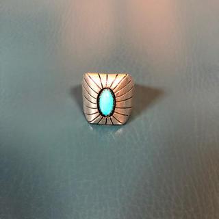 ナバホ族 P作 リング 13号 ターコイズ(リング(指輪))