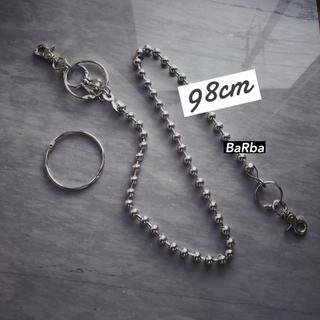 "【98cm】Long Wallet Chain+MKR  ""STUDY10 ""(ウォレットチェーン)"