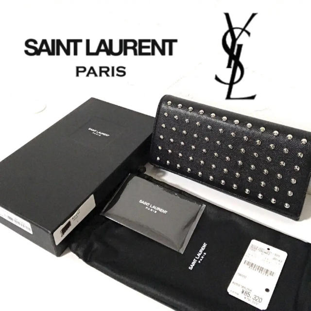 372b21b427bf Saint Laurent(サンローラン)のSaint Laurent サンローラン スタッズ 長財布 レザー メンズ