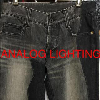 アナログライティング(analog lighting)の美品☆ANALOG LIGHTING☆デザインデニム【ブラック】(デニム/ジーンズ)
