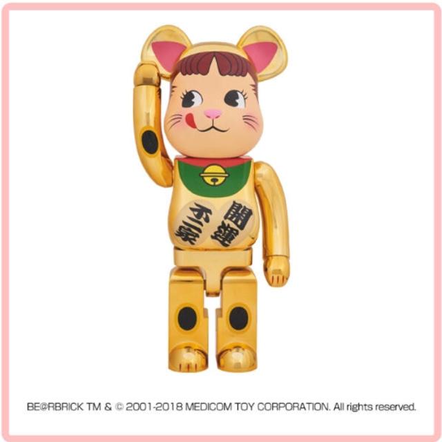 MEDICOM TOY(メディコムトイ)のBE@RBRICK 不二家 招き猫 ペコちゃん 1000% ベアブリック エンタメ/ホビーのおもちゃ/ぬいぐるみ(キャラクターグッズ)の商品写真