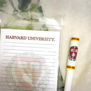 ハーヴァード(HARVARD)のハーバード大学のノートパッドとペンの2点セット(ノート/メモ帳/ふせん)