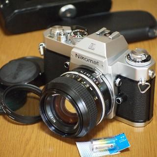 ニコン(Nikon)の整備済み☆ニコンNIKON Nikomat ELボディ/明るい50mm F1.4(フィルムカメラ)
