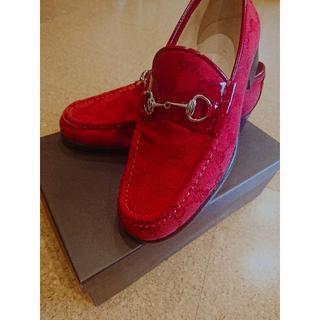 グッチ(Gucci)のKitty様専用 新品未使用 GUCCI グッチ ローファー レッド(ローファー/革靴)