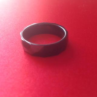 タングステン Tungsten リング 18.5号 黒(リング(指輪))
