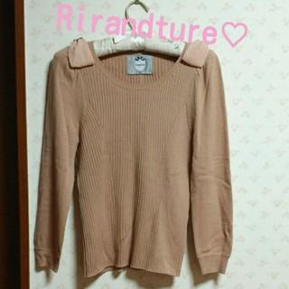 リランドチュール(Rirandture)のRirandture♡肩リボンニット(ニット/セーター)