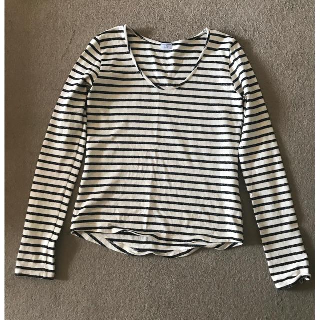 Cher(シェル)のcher bianca's closet のボーダーカットソー レディースのトップス(Tシャツ(長袖/七分))の商品写真
