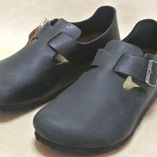 ビルケンシュトック(BIRKENSTOCK)のBirkenstock ビルケンシュトック 革靴タイプ ロンドン 黒 EU41(サンダル)