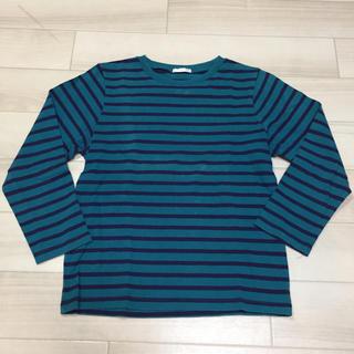 ジーユー(GU)のGU ボーダートップス 130(Tシャツ/カットソー)