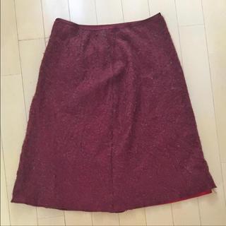 エンプリーベ(en prive)のモコモコ スカート(ひざ丈スカート)