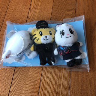 ジャル(ニホンコウクウ)(JAL(日本航空))のしまじろう ぬいぐるみセット JAL 機内販売(ぬいぐるみ/人形)
