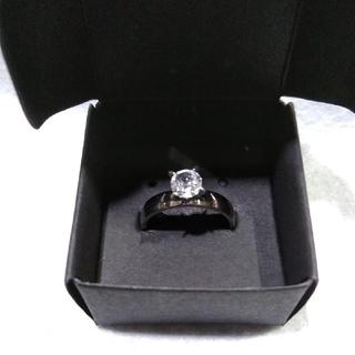 【レディース】ステンレス製のジルコニアの指輪20号(リング(指輪))