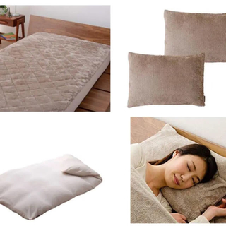 ムジルシリョウヒン(MUJI (無印良品))の吸湿発熱 掛け布団カバー&ボックスシーツ&枕カバー 2セット(シーツ/カバー)