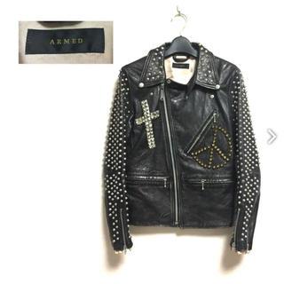 アームド(ARMED)の【即決】ラブレス購入 ARMED アームド スタッズ装飾 ライダースジャケット(ライダースジャケット)