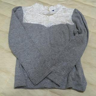 レース切り替えセーター