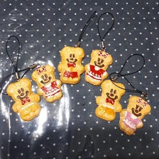 ディズニー(Disney)のディズニークッキーペアセット ハンドメイドストラップ ハロウィン(バッグチャーム)