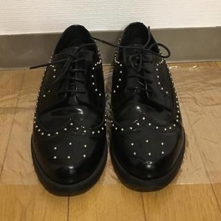ディエゴベリーニ(DIEGO BELLINI)の✴︎24日に削除します✴︎ディエゴ ベリーニ おじ靴 スタッズ レザー(ローファー/革靴)