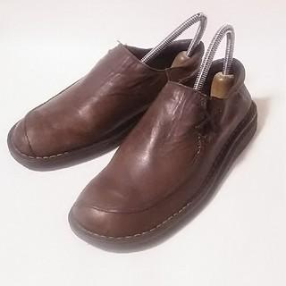 ドクターマーチン(Dr.Martens)の希少限定デザイン!ドクターマーチンイングランド製スリッポンシューズ茶ビンテージ(ローファー/革靴)