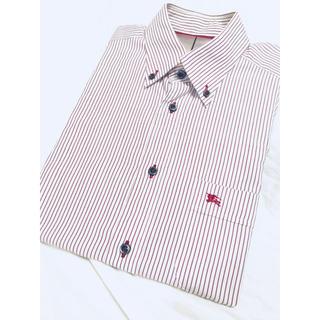 バーバリーブラックレーベル(BURBERRY BLACK LABEL)の● ■バーバリー ブラックレーベル  メンズ 長袖ワイシャツ  赤白 ホワイト (シャツ)
