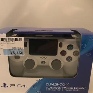 プレイステーション4(PlayStation4)のPS4  グレイシャーホワイト ワイヤレスコントローラー 新品(その他)