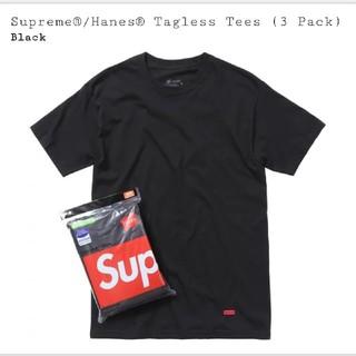 シュプリーム(Supreme)のMサイズ supreme×hanes Tシャツ1枚 黒(Tシャツ/カットソー(半袖/袖なし))