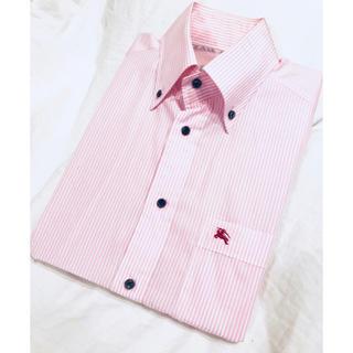 バーバリーブラックレーベル(BURBERRY BLACK LABEL)の■バーバリー ブラックレーベル  メンズ 長袖ワイシャツ  ピンク 白 ホワイト(シャツ)