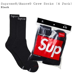 シュプリーム(Supreme)のSupreme × Hanes crew Socks 1足(ソックス)