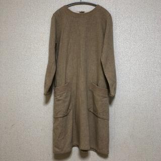9cc384cb2f5b5b ネストローブ(nest Robe)の☘ grin 濃いベージュ とても可愛い ワンピース ☘(
