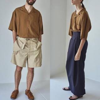 コモリ(COMOLI)のGraphpaper / Silk open-neckd shirt(シャツ/ブラウス(半袖/袖なし))