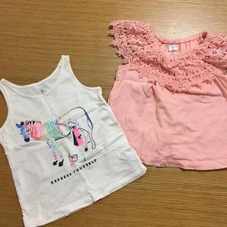 ベビーギャップ(babyGAP)のbabygap 女の子レースタンクトップ 白タンク おまとめ 95-100(Tシャツ/カットソー)