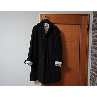 ポールハーデン(Paul Harnden)のBergfabel long tyrol jacket (black)(チェスターコート)