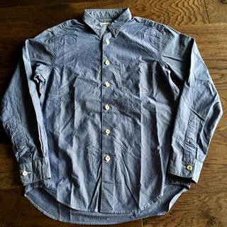 ヤエカ(YAECA)の美品 EEL Products 陶器釦のシャツ4 陶器ボタンシャツ ブルーXS (シャツ)