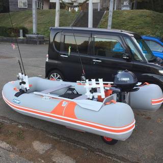 タツヤ様専用ジョイクラフトゴムボート5人乗り二馬力エンジン付き(その他)