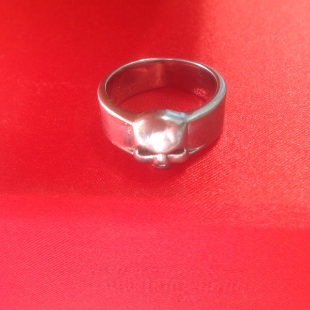 ステンレス製 スカル リング 18号 メンズのアクセサリー(リング(指輪))の商品写真