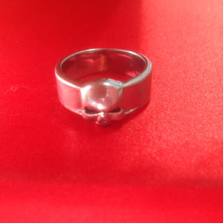 ステンレス製 スカル リング 18号(リング(指輪))