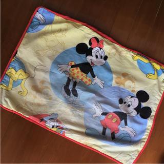 ディズニー(Disney)のミッキー ディズニー イエロー ビンテージ 枕カバー ピロケース(シーツ/カバー)