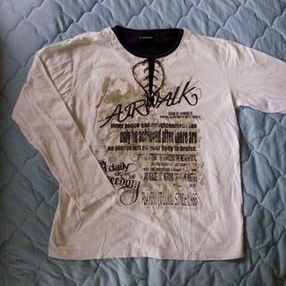 エアウォーク(AIRWALK)の値下げ:AIRWALK 長袖 Tシャツ オフホワイト【中古】(Tシャツ/カットソー(七分/長袖))