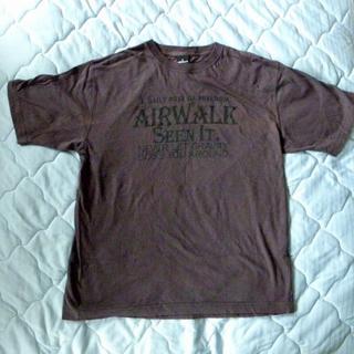エアウォーク(AIRWALK)の値下げ:AIRWALK 半袖 Tシャツ 灰茶【中古】(Tシャツ/カットソー(半袖/袖なし))