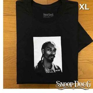 スヌープドッグ(Snoop Dogg)のレア!スヌープ・ドッグ Tシャツ フォトプリントT【XL】黒 新品 180718(Tシャツ/カットソー(半袖/袖なし))