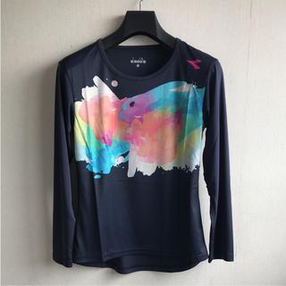 ディアドラ(DIADORA)のディアドラ 長袖シャツ 紺L 定価5184円 DTL8309(ウェア)