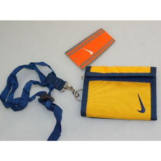 ナイキ(NIKE)のナイキ 首かけストラップ財布イエロー 新品(折り財布)