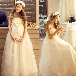7fb46def441a5 ウェディングドレス 二次会やフォトウェディングに(ウェディングドレス)