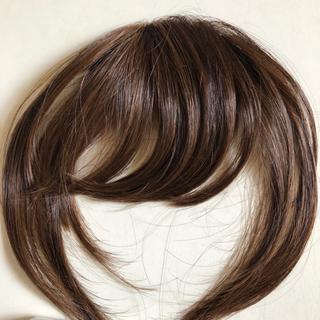 ヘアコサージュ、前髪ウイッグ(サイド有)   未使用(前髪ウィッグ)