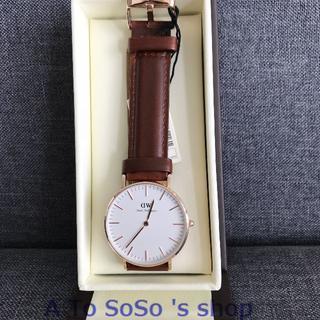ダニエルウェリントン(Daniel Wellington)のDW メンズ時計 40MM  ブラウン ローズゴールド(腕時計(アナログ))