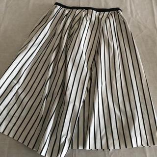 アウラアイラ(AULA AILA)のアウラアイラ ストライプ フレアスカート(ひざ丈スカート)